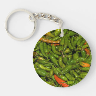 Chilis For Sale At Market Key Ring