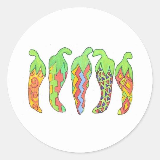 Chilis Incognito Classic Round Sticker