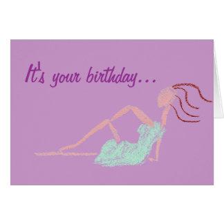 CHILL BIRTHDAY greeting card