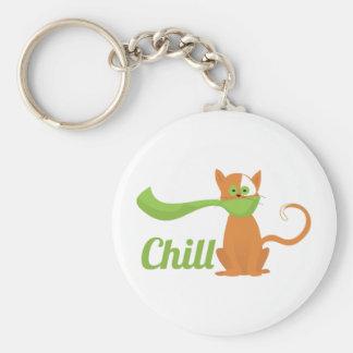Chill Cat Key Chain