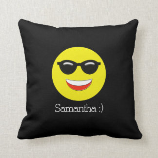 Chill Emoji Add Your Name Cushion