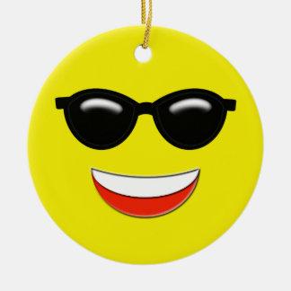 Chill Emoji Custom Christmas Ornament