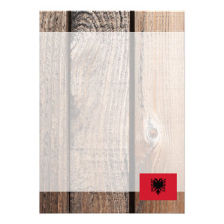 Chill Flag of Albania 13 Cm X 18 Cm Invitation Card