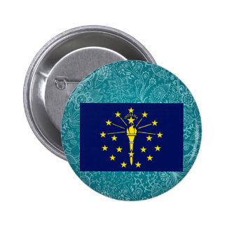 Chill Flag of Indiana 6 Cm Round Badge