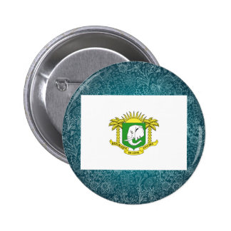 Chill Flag of Ivory Coast 6 Cm Round Badge