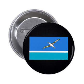 Chill Flag of Midway Islands 6 Cm Round Badge