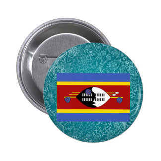 Chill Flag of Swaziland 6 Cm Round Badge