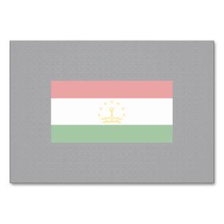 Chill Flag of Tajikistan Table Card