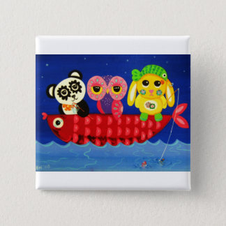 Chill Out 15 Cm Square Badge