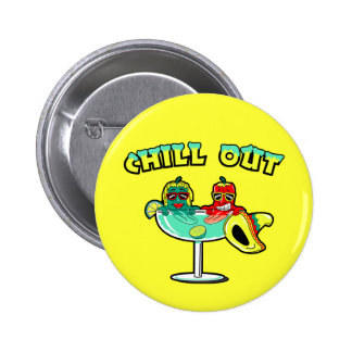 Chill Out 6 Cm Round Badge