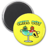 Chill Out 6 Cm Round Magnet