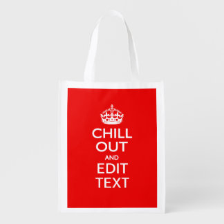 Chill Out and Your Text with Keep Calm Crown RED