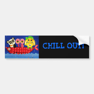 Chill Out Animal Bumper Sticker