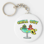 Chill Out Basic Round Button Key Ring