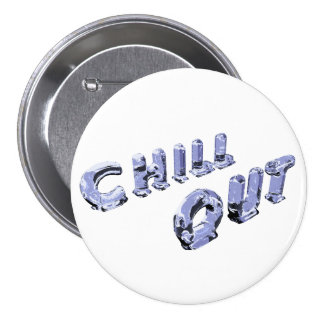 Chill Out Ice Sculpture Button