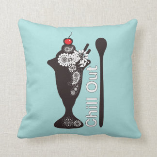 Chill Out - Paisley Ice Cream Sundae Girly Cute Cushion