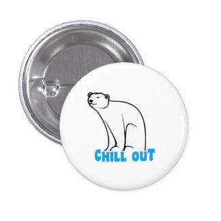 Chill Out Polar Bear 3 Cm Round Badge