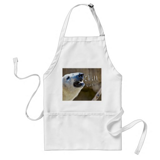 Chill out! polar bear apron