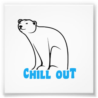 Chill Out Polar Bear Photo Print