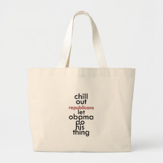 chill out republicans canvas bags