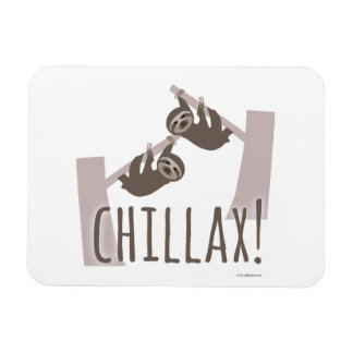 Chill Out Sloth Magnet