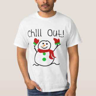 Chill Out Snowman Tshirts and Gifts