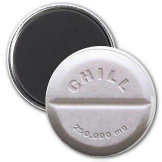 Chill Pill Refrigerator Magnet