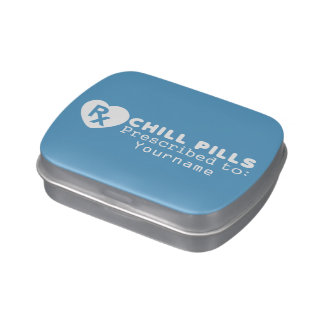 CHILL PILLS custom mint tins Jelly Belly Tin