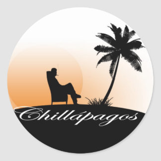 Chillapagos Sunset Sticker