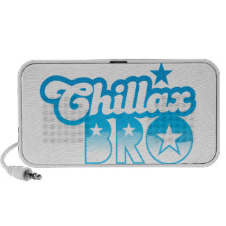 Chillax Bro!  RELAX AND CHILL brother in cool Blue PC Speakers