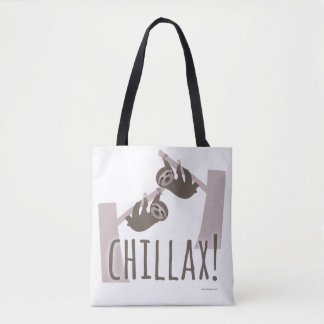 Chillax Relaxing Sloth Tote Bag