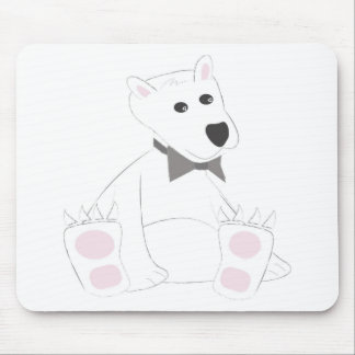 Chilled Polar Bear Mouse Pad