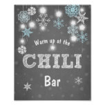 Chilli Bar sign Blue Winter snowflakes Chilly Boy