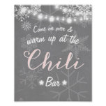 Chilli Bar sign Pink snowflake Chilly Rustic