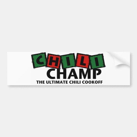 Chilli Champ Bumber Sticker