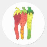 Chilli Colour Round Stickers