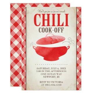 Chilli Cook Off Invitations ~ BBQ Invite