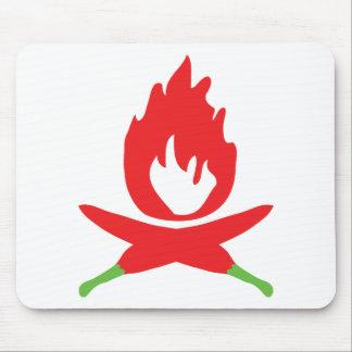 chilli fire icon mouse pad