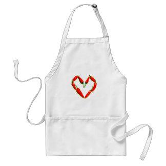chilli heart adult apron