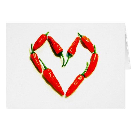 chilli heart card