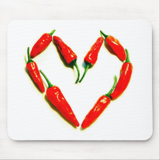 chilli heart mouse pad