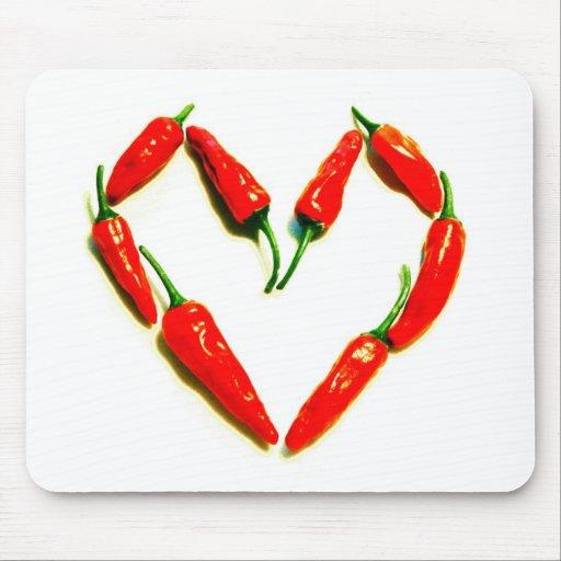 chilli heart mousepad