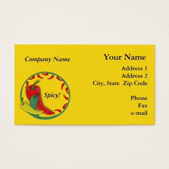 Chilli Pepper Business Card