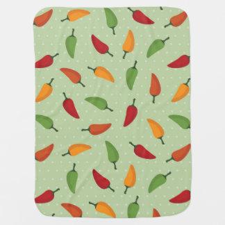 Chilli pepper pattern baby blanket