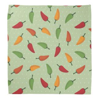 Chilli pepper pattern bandana