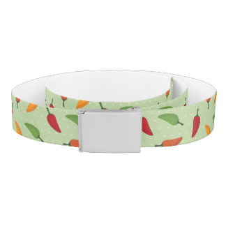 Chilli pepper pattern belt