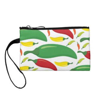Chilli pepper pattern coin purse