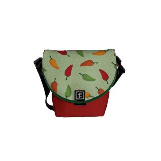 Chilli pepper pattern commuter bag