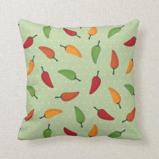 Chilli pepper pattern cushion