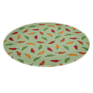 Chilli pepper pattern cutting board